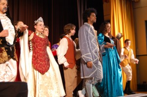 Cinderella Cast- Seen: Gio Rogers '15, Sidney Smith '14, Tyler Browne '18, Essmaa Litim '14, Matthew Walsh '19- Photo Taken by Marina Sweeney '14